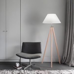 Modern chair and lamp